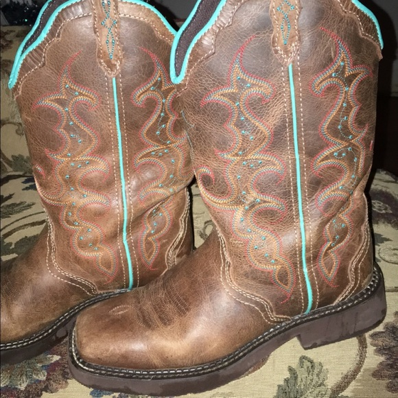 Justin Boots Shoes   Cow Girl Boots